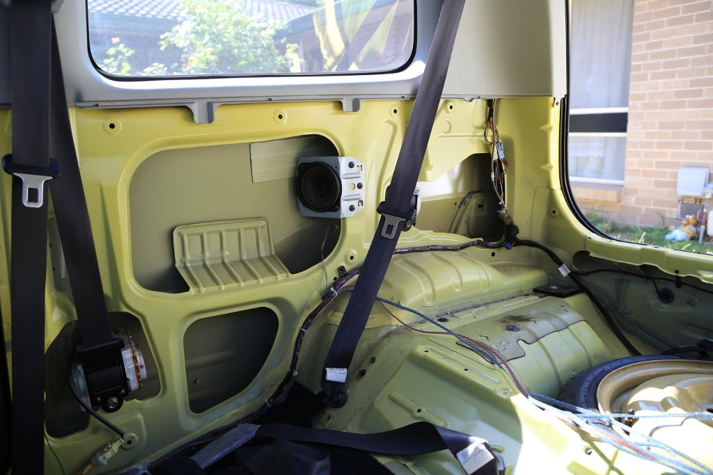 Here's what's behind those panels in the back seat. Mostly air.